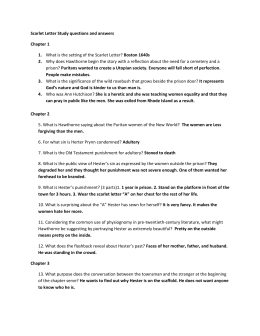 Scarlet Letter Study questions and answers Chapter 1 What is the