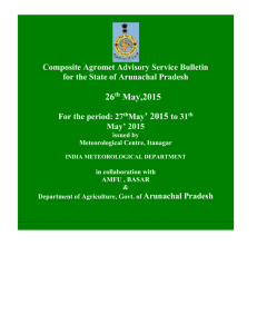 27 th May` 2015 to 31 th May` 2015 issued by Meteorological Centre