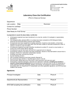 LabCloseOutCertification - Environmental Health and Safety