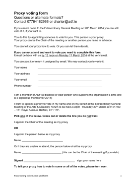 Proxy voting form EGM March 2014