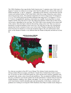 The USDA Hardiness Zone map divides North America into 11