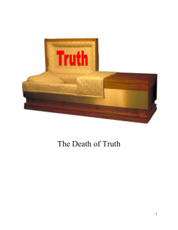 The Death of Truth - Mt Carmel Ministries