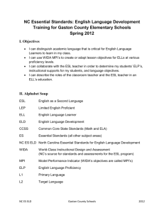 ELD ES handout LMTrower - NC English Language Development