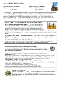 All Saints Messenger 15th November 2015