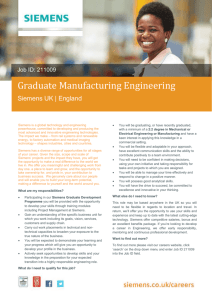 Graduate Manufacturing Engineering