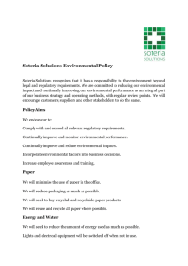 Environmental - Soteria Solutions