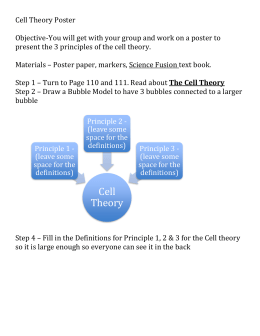 Cell Theory Poster