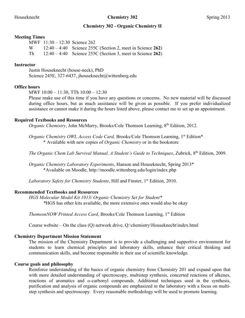 Organic Chem Ii Lab Final