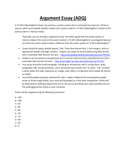Argument Essay (ADQ) - Mrs. Mehrens` English Page