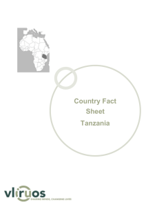 Tanzania Fact Sheet - VLIR-UOS