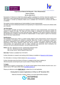 Expressions of Interest for Research – Wave Measurements School
