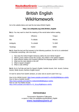 British English WikiHomework