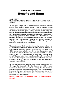Law, Medicine and Bioethics, Case 6