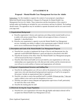 Mental Health Case Management Services for Adults