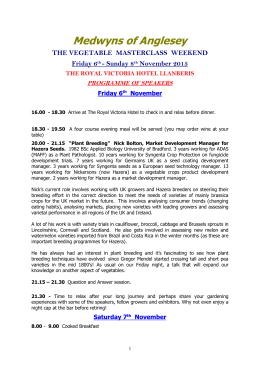 Programme for 2015 - Medwyns of Anglesey