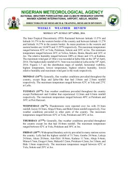WxRev-WK16 APR 2014 - Nigerian Meteorological Agency