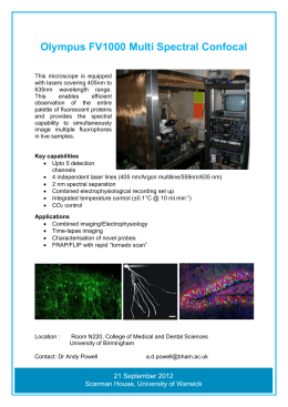 Olympus FV1000 Multi Spectral Confocal