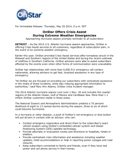OnStar Offers Crisis Assist - GM Media Site