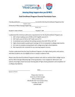 Dual Enrollment Program Parental Permission Form