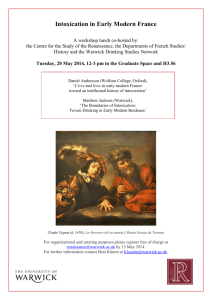 Workshop on `Intoxication in Early Modern France`