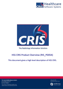 1 - HSS – Healthcare Software Solutions