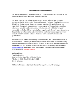 Assistant Professor-Nephrology - American University of Beirut