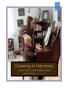 Growing in Harmony Brochure