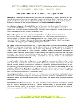 General Informed Consent and Agreement