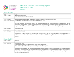 2013 Fellows Third Meeting Agenda (Word) Open File