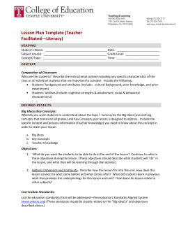 Lesson Plan Template Direct Instruction Math - Direct lesson plan template