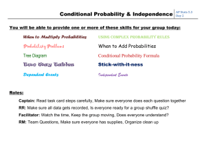 Conditional Probability & Independence
