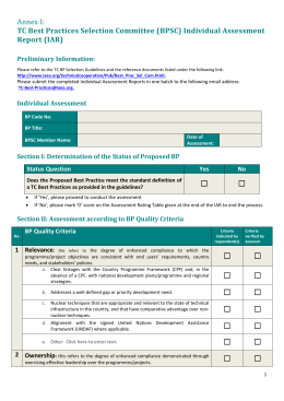 Annex 1 Individual Assessment Form