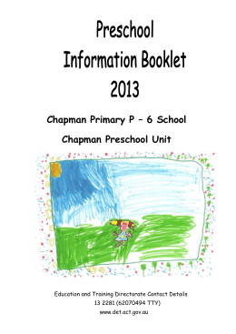 Preschool Information Booklet 2007