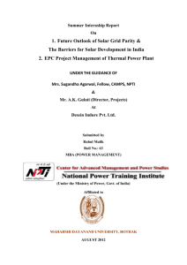 Project Management - National Power Training Institute (NPTI)