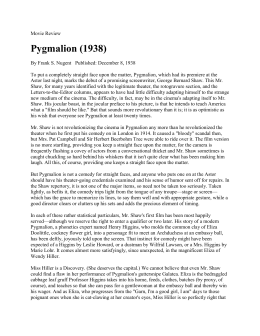 Pygmalion review from 1938
