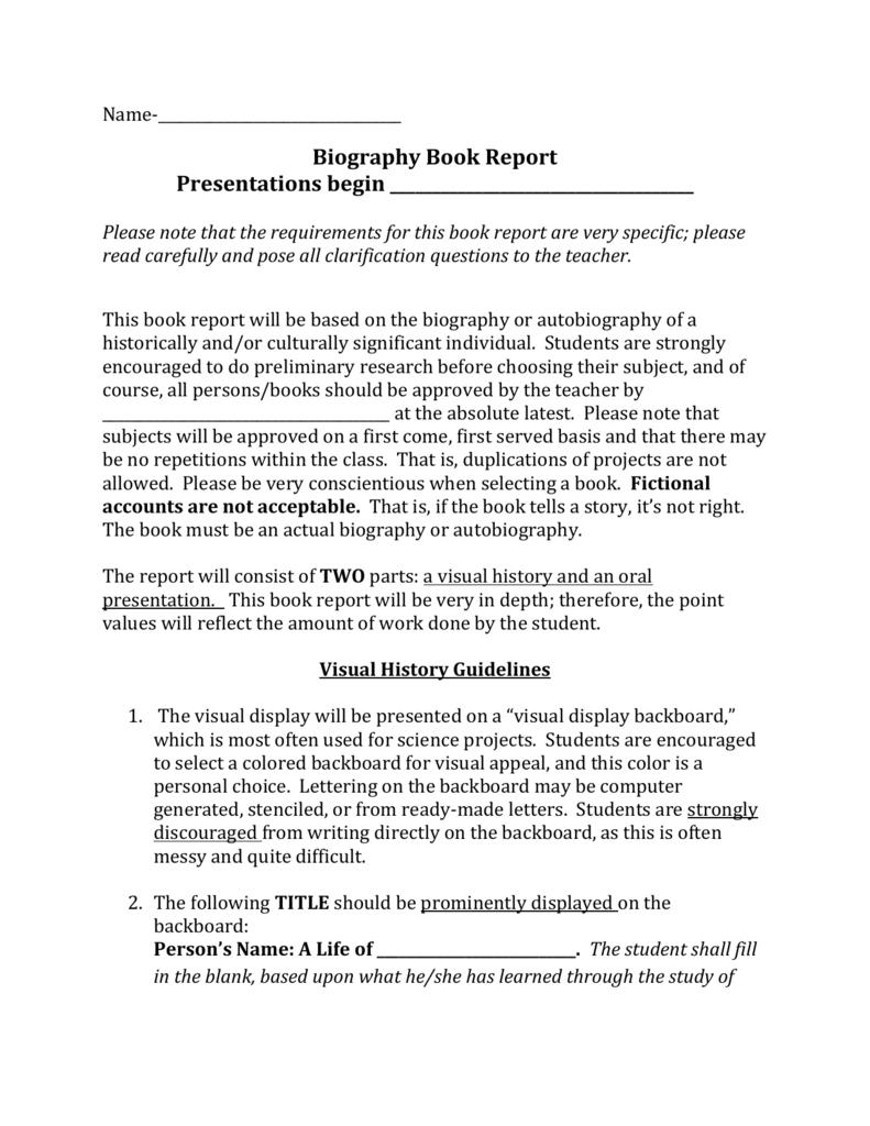 Biography Book Report 2