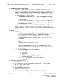 DAF Document Metadata IG Charter Draft Outline_2014 12 14