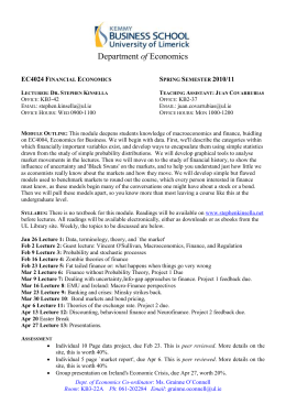 EC4024 Financial Economics Spring Semester