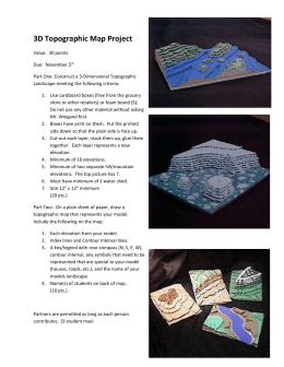 3D Topographic Map Project