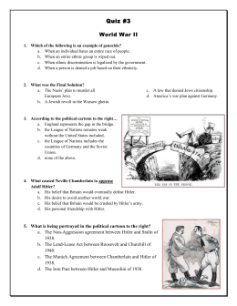 World War 2 Mini Quiz - Cabarrus County Schools