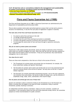 Flora and Fauna Guarantee Act 1988 (Vic)
