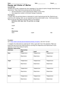Virtual Lab - States of Matter Handout