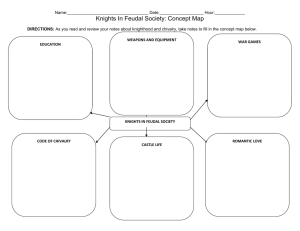 `Knights in Feudal Society` Graphic Organizer