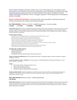 job description - American Red Cross