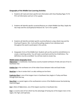 7th grade crct study guide southwest asia geography of the middle east learning activities publicscrutiny Images