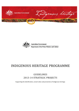 Strategic Projects Guidelines - Department of the Prime Minister and