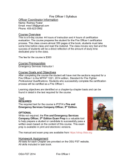 Fire Officer I Syllabus_2014
