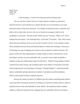Major Essay 2 - WordPress.com