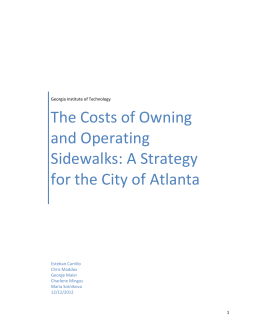The Costs of Owning and Operating Sidewalks