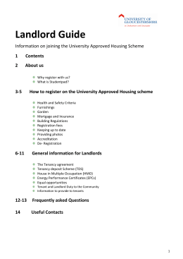 landlord-guide-2015 - University of Gloucestershire